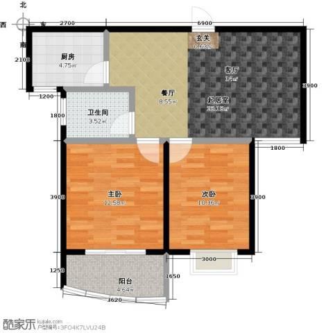 金猴北城名居2室0厅1卫1厨83.00㎡户型图