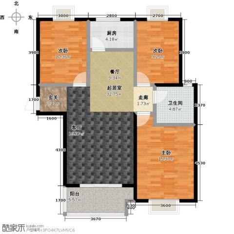 金猴北城名居3室0厅1卫1厨116.00㎡户型图