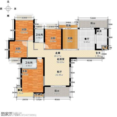 太阳湾4室0厅2卫1厨170.00㎡户型图