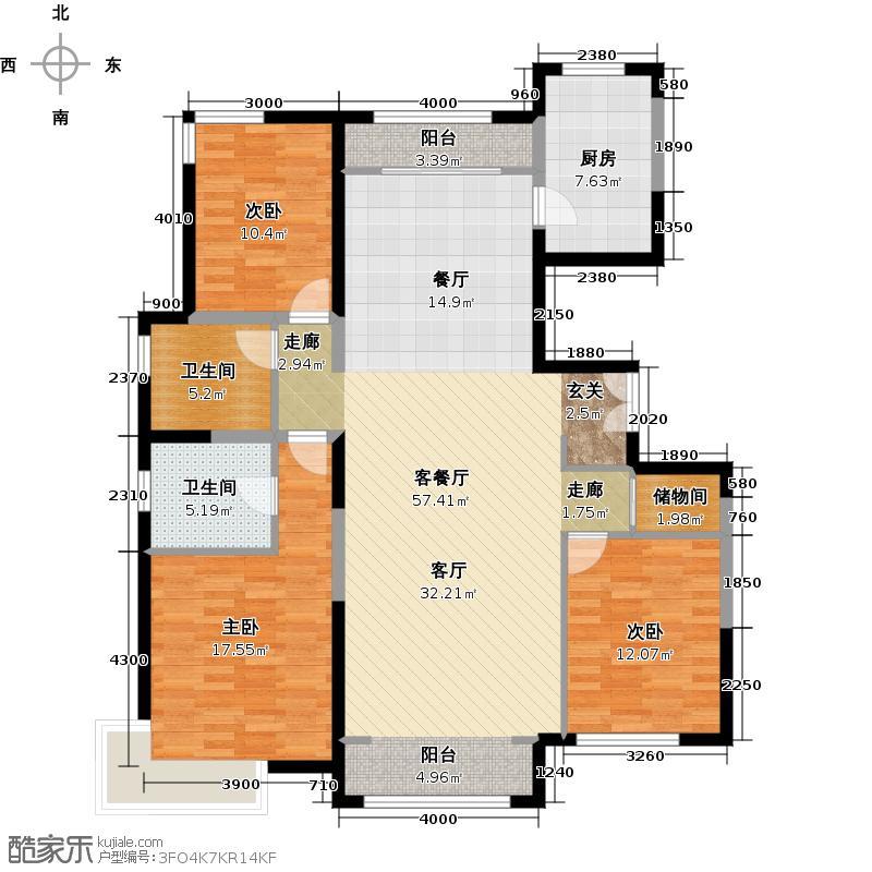 海亮国际社区162.00㎡G户型3室2厅2卫