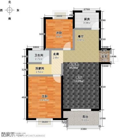 金猴北城名居2室0厅1卫1厨98.00㎡户型图