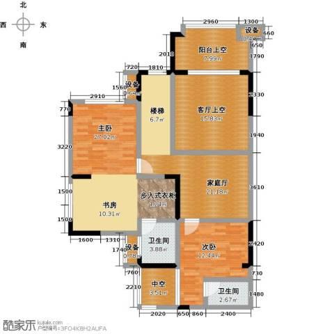 绿城上岛2室0厅2卫0厨192.00㎡户型图