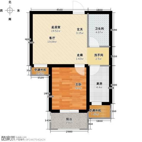 金屋秦皇半岛1室0厅1卫1厨62.00㎡户型图