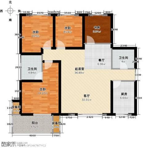 高新大都荟4室0厅2卫1厨137.00㎡户型图