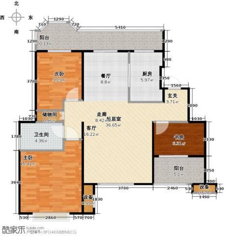 花田洋房3室0厅1卫1厨104.00㎡户型图