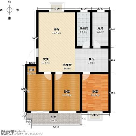 祥瑞家园1厅1卫1厨105.00㎡户型图