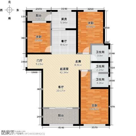 冠亚星城3室0厅3卫1厨123.00㎡户型图