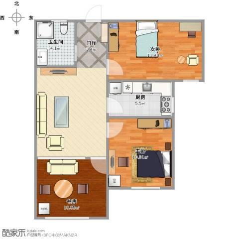 鲁商凤凰城3室1厅1卫1厨85.00㎡户型图