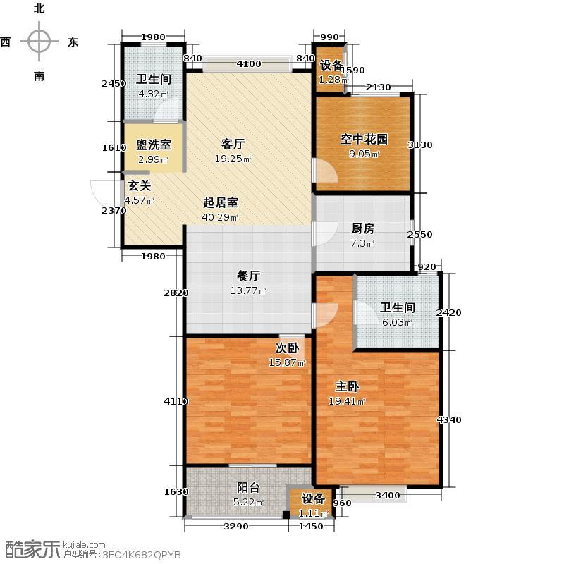 九龙仓繁华里118.00㎡G2户型2室2厅1卫
