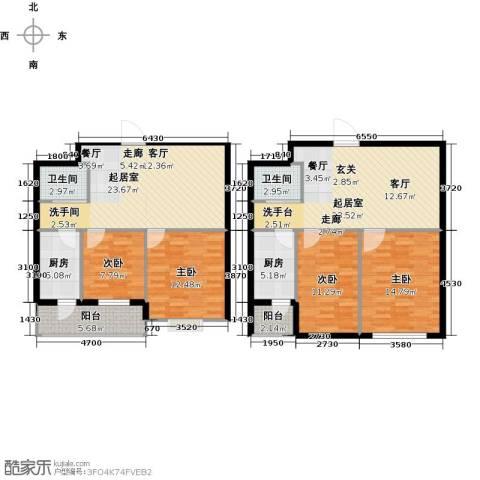 天福城4室0厅2卫2厨163.00㎡户型图
