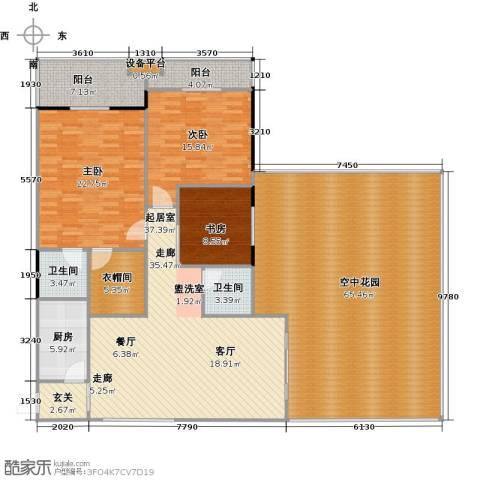 中和龙沐湾・海润源3室0厅2卫1厨182.54㎡户型图