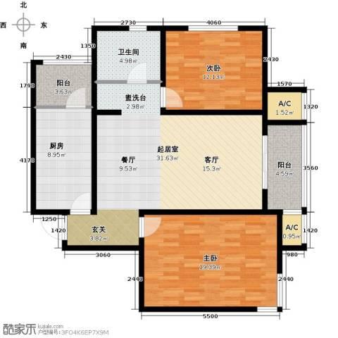 渤海天易园2室0厅1卫1厨123.00㎡户型图