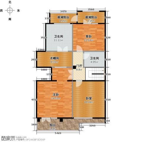 孔雀城大湖2室0厅2卫0厨229.00㎡户型图