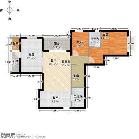 星耀五洲2室0厅2卫1厨115.00㎡户型图