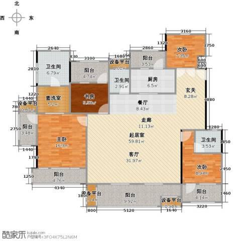 高科麓湾国际社区4室0厅3卫1厨215.00㎡户型图