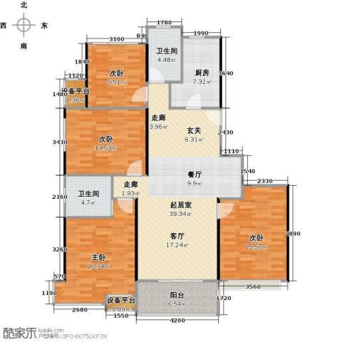 高科麓湾国际社区4室0厅2卫1厨161.00㎡户型图