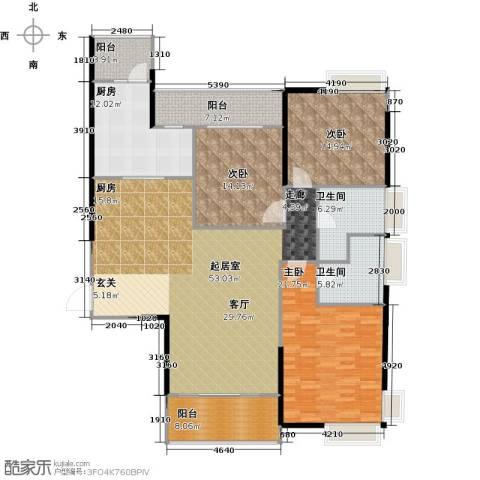 越秀星汇云锦3室0厅2卫1厨159.00㎡户型图