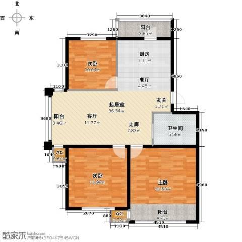 大树花园3室0厅1卫0厨101.00㎡户型图