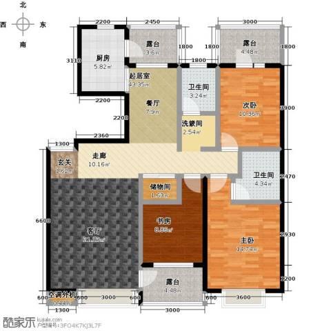 河海丽湾3室0厅2卫1厨130.00㎡户型图