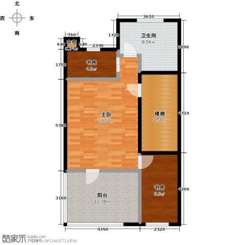 中信�台3室0厅1卫0厨95.00㎡户型图