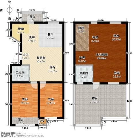 大树花园2室0厅2卫0厨197.00㎡户型图