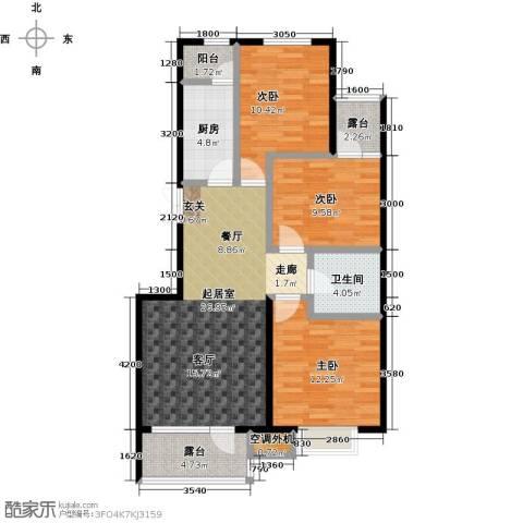 河海丽湾3室0厅1卫1厨101.00㎡户型图