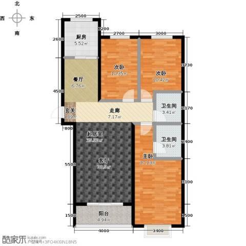 天鸿尚都3室0厅2卫1厨129.00㎡户型图