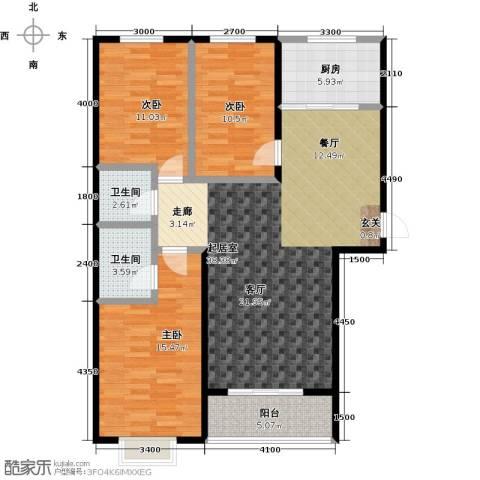 天鸿尚都3室0厅2卫1厨130.00㎡户型图