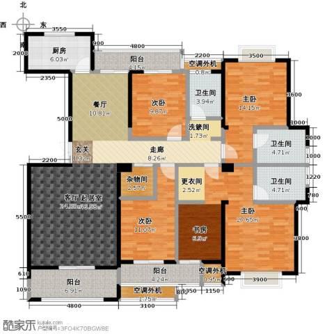 盛辉仕林东湖4室0厅3卫1厨216.00㎡户型图