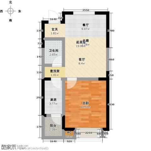 四季风情1室0厅1卫1厨60.00㎡户型图