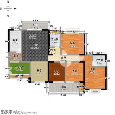 盛辉仕林东湖4室0厅2卫1厨150.00㎡户型图