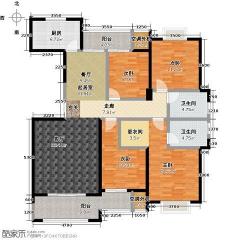 盛辉仕林东湖4室0厅2卫1厨177.00㎡户型图