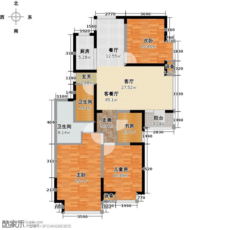 恩马双城汇150.00㎡D户型3室2厅2卫