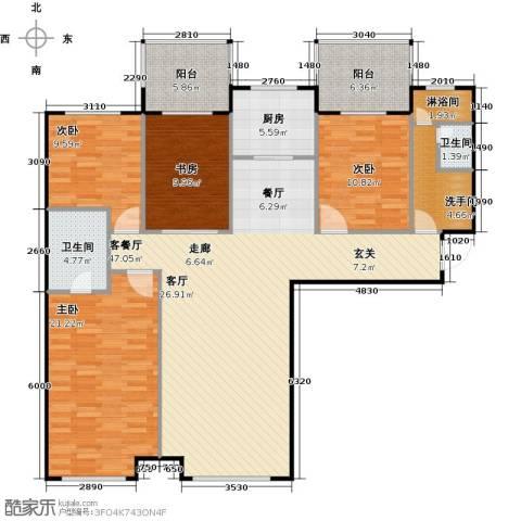 林凯城4室1厅2卫1厨174.00㎡户型图