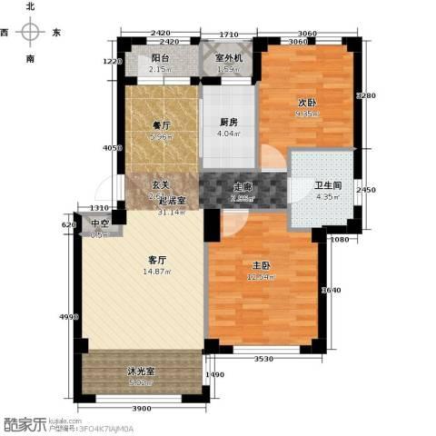 经纬壹号2室0厅1卫1厨74.78㎡户型图