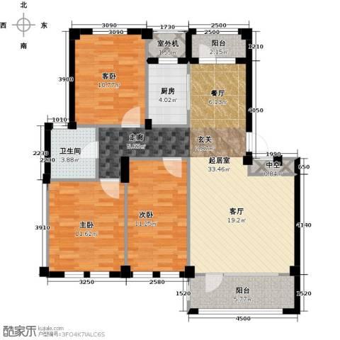 经纬壹号3室0厅1卫1厨96.25㎡户型图