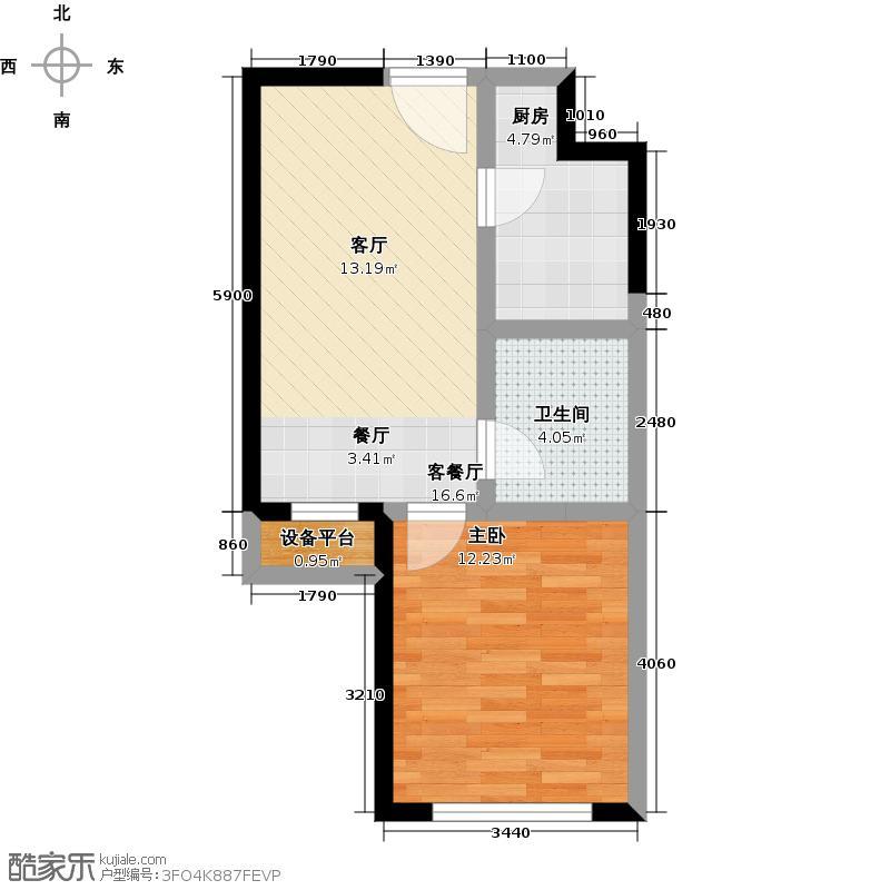 北宁湾户型1室1厅1卫1厨