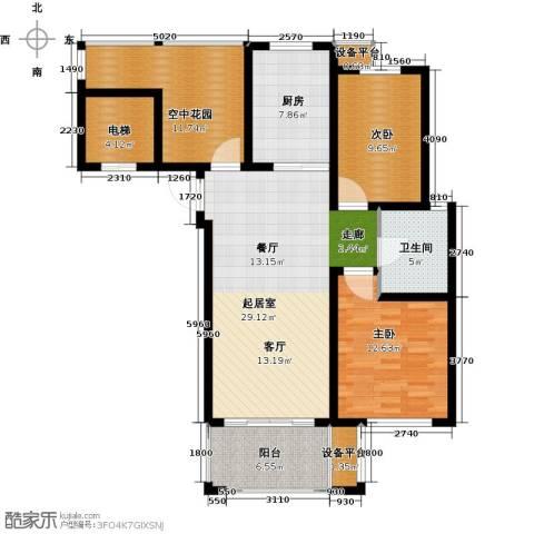 津西新天地2室0厅1卫1厨102.00㎡户型图