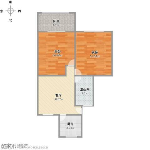 场中路3117弄小区2室1厅1卫1厨59.00㎡户型图