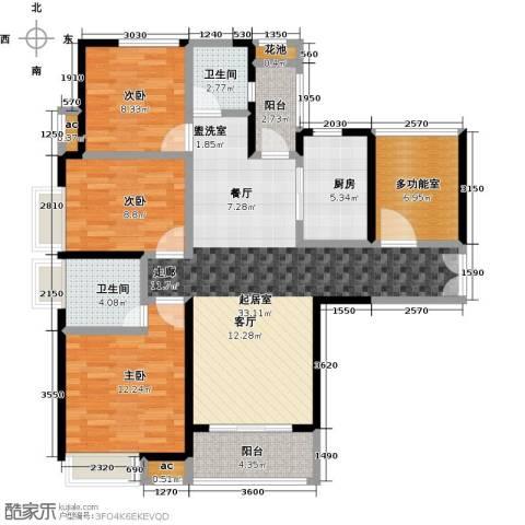 九策城雅居3室0厅2卫1厨134.00㎡户型图