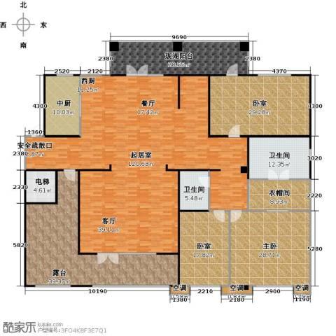 孔雀城大湖1室0厅2卫0厨330.00㎡户型图