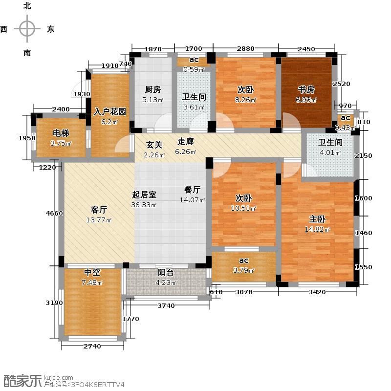 泰和郡137.00㎡电梯洋房2F户型4室2厅2卫