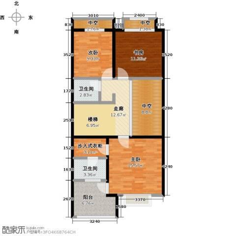中信�台3室0厅2卫0厨296.00㎡户型图