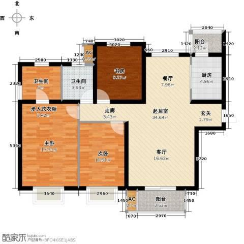 浩友凤凰城3室0厅2卫1厨133.00㎡户型图