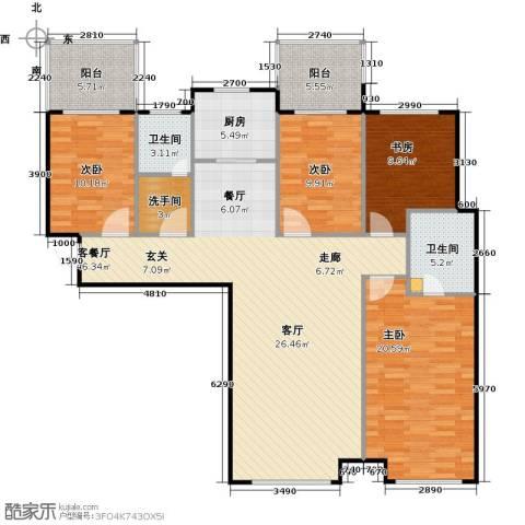 林凯城4室1厅2卫1厨167.00㎡户型图