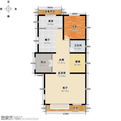 中信�台1室0厅1卫1厨163.00㎡户型图