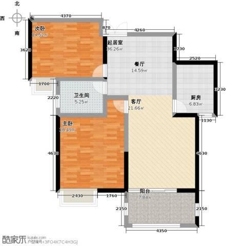 国贸天琴湾2室0厅1卫1厨99.00㎡户型图