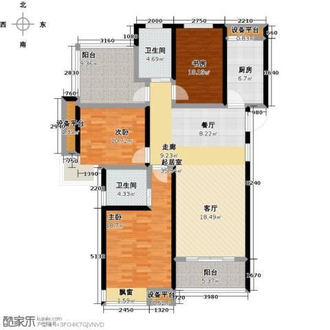中铁诺德誉园3室0厅2卫1厨128.00㎡户型图