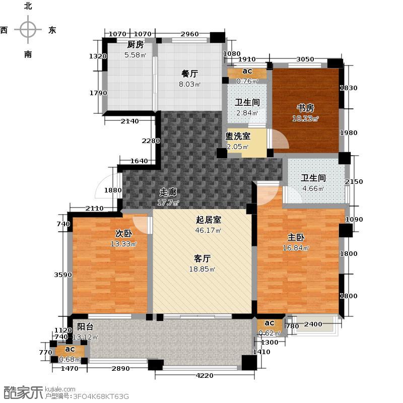 广嘉东郡131.00㎡131平米户型3室2厅2卫