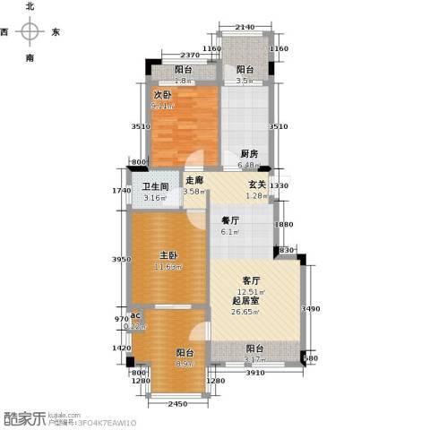 钻石铭苑2室0厅1卫1厨82.00㎡户型图